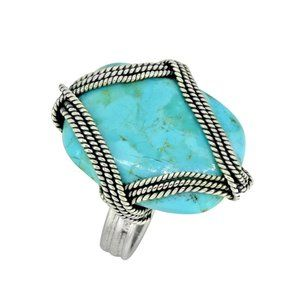 Jewelry - Mohave Turquoise Unique Sterling Silver RIng!